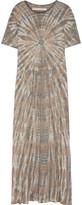 Raquel Allegra Tie-dyed Cotton-blend Jersey Maxi Dress - Mushroom