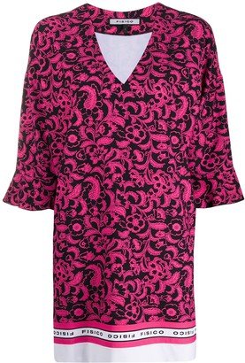 Fisico floral print T-shirt dress