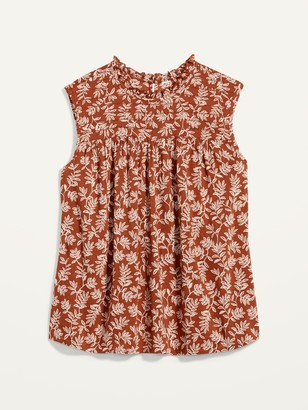 Old Navy Ruffled High-Neck Printed Sleeveless Top for Women