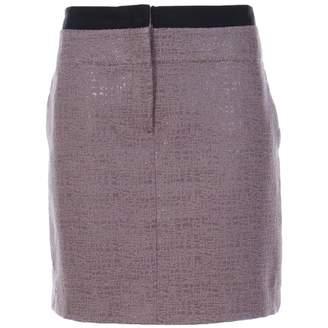 Ann Taylor Brown Cotton Skirt for Women