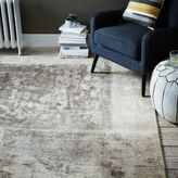 west elm Distressed Rococo Wool Rug - Platinum