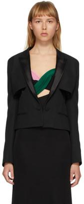 Haider Ackermann Black Cut-Out Tuxedo Jacket