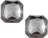 Kenneth Jay Lane Square Crystal Stud Earrings, Gray