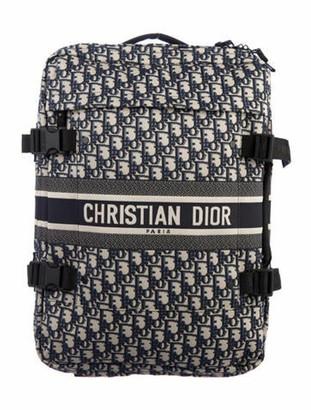 Christian Dior 2019 Small Diortravel Oblique Suitcase Blue