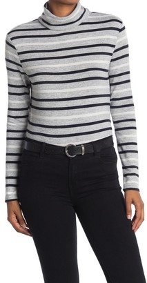 BeachLunchLounge Shayna Striped Turtleneck Hacci Knit Top