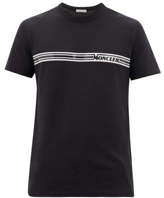 Moncler Maglia Logo-print Cotton T-shirt - Navy