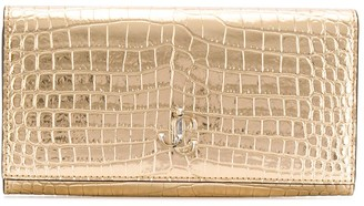 Jimmy Choo Martina crocodile effect wallet