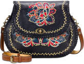 Patricia Nash Provencal Escape Embroidery Arezzo Medium Saddle Bag