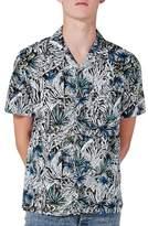 Topman Floral Revere Collar Shirt