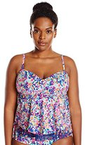 Kenneth Cole Reaction Women's Plus-Size Don't Mesh with Me Flyaway Tankini