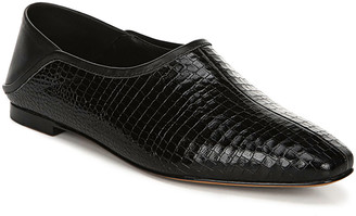 Vince Branine Alligator-Embossed Slip-On Flats