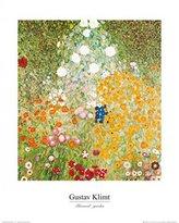 Gustav 1art1 Posters Klimt Poster Art Print - Flowery Garden (20 x 16 inches)
