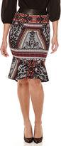 Bisou Bisou Flounce Pencil Skirt