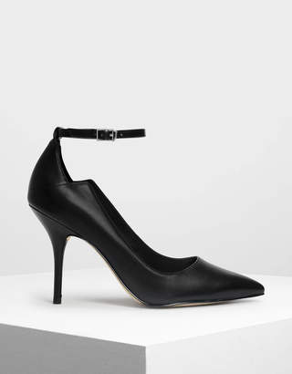 Charles & Keith Ankle Strap Pointed Pumps