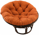 "Blazing Needles 44"" Solid Twill Papasan Cushion, Fits 42"" Papasan Frame, Spice"