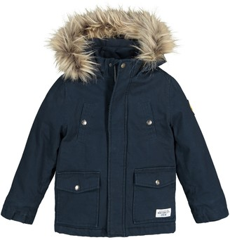 La Redoute Collections Cotton Hooded Parka with Fleece Lining, 3-12 Years