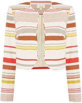 Linea Sophia Linen stripe blazer