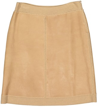 Marni Brown Leather Skirts