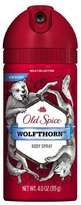 Old Spice Wild Collection Wolfthorn Scent Men's Body Spray 4 Oz by