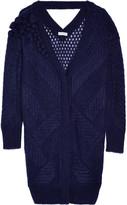 Vionnet Embellished open-knit mohair-blend cardigan