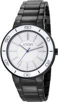 JOOP! Joop Insight Women's Quartz Watch with White Dial Analogue Display and Black Stainless Steel Bracelet JP101032F05