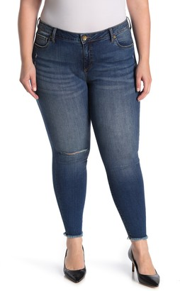 KUT from the Kloth Ankle Skinny Frayed Hem Jeans (Plus Size)