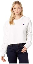 Champion LIFE Reverse Weave(r) Cropped Fit (White) Women's Clothing