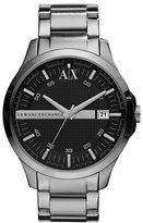 Armani Exchange Mens Silver Stainless Steel Quartz Watch