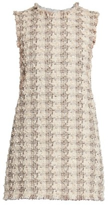 Dolce & Gabbana Tweed Sleeveless Shift Dress
