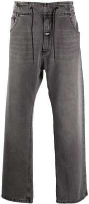 MSGM Drawstring-Waist Straight-Leg Jeans