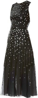 Carolina Herrera Sequined Chiffon Dress