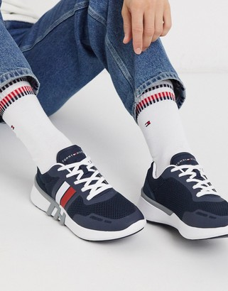 Tommy Hilfiger lightweight corporate logo runners in navy
