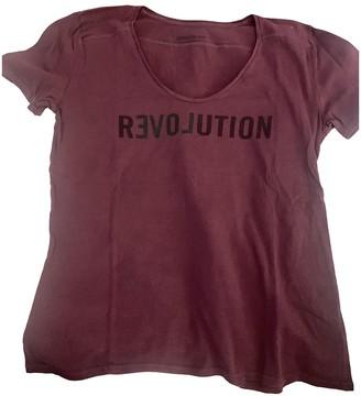 Zadig & Voltaire Burgundy Cotton Top for Women