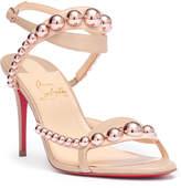 Christian Louboutin Galeria 85 nappa beige sandals