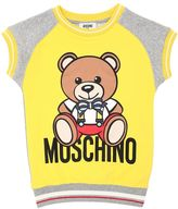 Moschino Bear Printed Cotton Sweatshirt Dress
