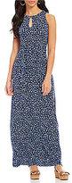 MICHAEL Michael Kors Floral Print Matte Jersey Belted Maxi Dress