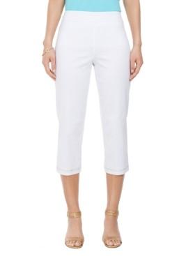 JM Collection Embellished-Hem Straight-Leg Capri Pants, Created for Macy's