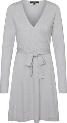 Vero Moda Karissara Long Sleeve Faux Wrap Dress