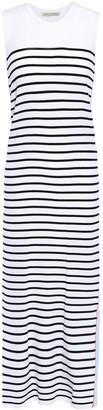 Autumn Cashmere Striped Stretch-knit Midi Dress