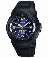 Casio Mens Blue Dial Black Resin Strap Sport Watch MW600F-2AVOS