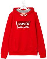 Levi's Kids - logo print hoody - kids - Cotton/Polyester - 14 yrs