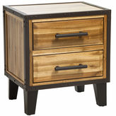asstd national brand christopher knight home luna acacia wood 2drawer nightstand