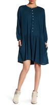 Free People Dropwaist Linen Blend Dress