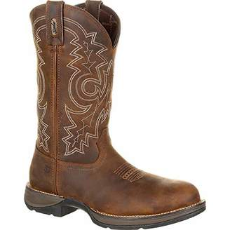 Durango Men's Rebel Steel Toe Waterproof Western Work Boot Mid Calf