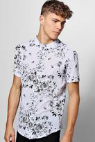 Boohoo Short Sleeve Monochrome Floral Shirt