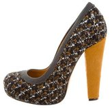 Carven Tweed Platform Pumps
