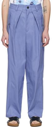Jacquemus Blue Le Pantalon Lavandou Trousers