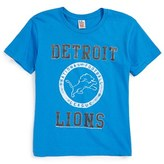 Junk Food Clothing Boy's Kick Off Detroit Lions T-Shirt