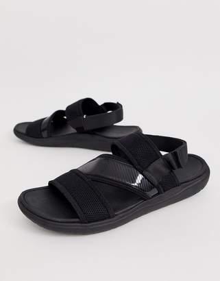 Asos Design DESIGN sneaker sandals in mixed materials