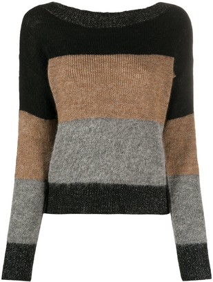 Liu Jo Colour-Block Rib-Trimmed Jumper